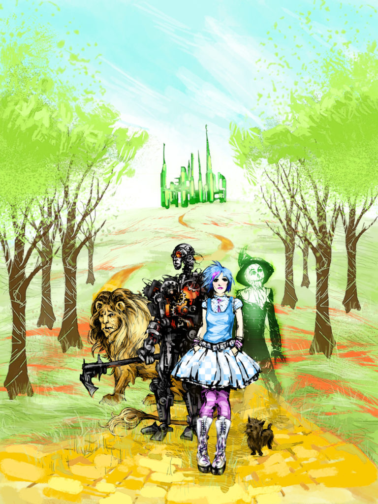 Oz Reimagined cover (work-in-progress)